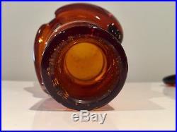 Erik Hoglund Large Amber Glasmadamer People Decanter Kosta Boda Signed H288