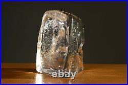 Erik Hoglund Massive Glass Sculpture BODA Sweden 60s Signed