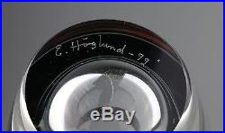 Erik Höglund VERY RARE GLASS HEAD SCULPTURE SIGNED