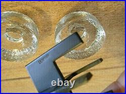 Erik Hoglund Vintage MCM Danish Modern Cast Iron And Glass Candle Holder Denmark