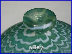 Exquisite Large Bertil Vallien Kosta Boda Sweden Fenicio Glass Vase 10.25
