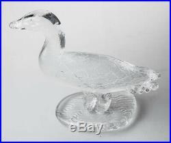 Extremely Rare Kosta Boda Vallien Bird Duck Sculpture Midcentury Modern 1960 70s