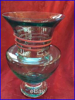 FLAWLESS Exceptional KOSTA BODA Backstrom Signed # Crystal VASE Serpent Wrapped
