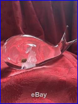 FLAWLESS Exquisite KOSTA BODA Art Glass JONAH AND THE WHALE Figurine 7 1/2