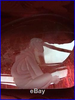 FLAWLESS Exquisite KOSTA BODA Glass 10 3/4 Crystal JONAH & THE WHALE Figurine