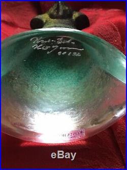 FLAWLESS Exquisite KOSTA BODA Sweden KJELL ENGMAN CATWALK Glass BEAR Figurine