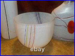Four (4) Pieces Kosta Boda Art Glass Signed Bertril Vallien Rainbow Sweden
