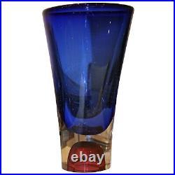 Goran Warff for Kosta Boda Glass Vase Signed By Artist
