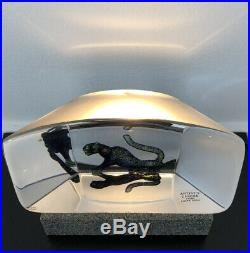 Heavy Art Glass Sculpture By BERTIL VALLIEN KOSTA BODA SWEDEN Signed