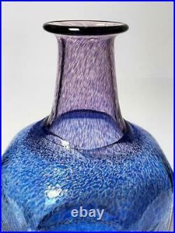 Huge Kosta Boda Antikva Glass 10.75 Vase Bertil Vallien Artist Coll Signed