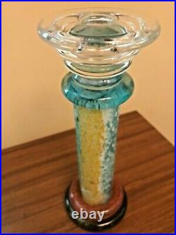 K. Engman Of Kosta Boda Candlestick Masterpiece 8.5 Multicolor