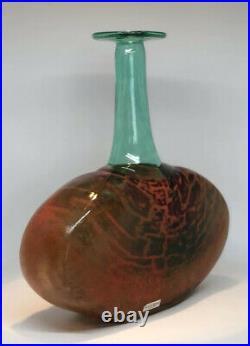 KJELL ENGMAN KOSTA BODA Vase Bottle RIO Art Face Glass, H9 1/2