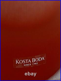 KOSTA BODA 9 ULRICA HYDMAN-VALLIEN RED MATTE CRYSTAL VASE with Original Box