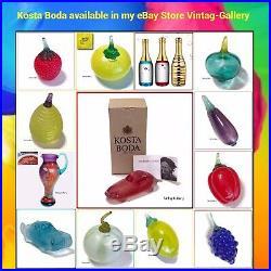 KOSTA BODA Art Glass CHAMPAGNE CELEBRATE Engman COLLECTABLE / 3-pcs Set / NIB