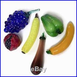 KOSTA BODA Art Glass Fruit FRUTTERIA + Assorted Fruit + Lacquer Bowl / VINTAGE
