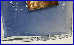 KOSTA BODA Artists Choice SATELLITE Blue Opaque 17 BOTTLE / VASE Bertil Vallien