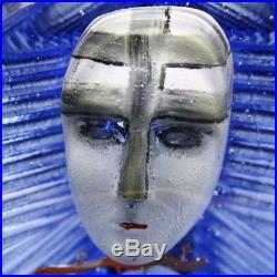 KOSTA BODA BERTIL VALLIEN Headman Atelier Sculpture/Paperweight, Apr 4Hx4.75W