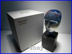 KOSTA BODA BRAINS FREJA Design by Bertil Vallien Glass Head 2018 Limited Edition