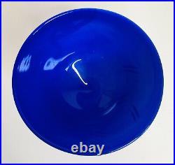KOSTA BODA Blue White Art Glass OPEN MINDS Vase Face Signed Hand Painted Vintage