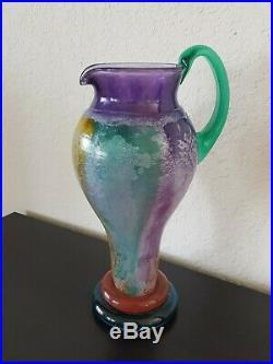 KOSTA BODA CAN CAN PITCHER BY KJELL ENGMAN SIGNED #89147 Scandinavian Art Glass