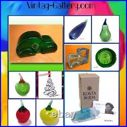 KOSTA BODA Fruit FRUTTERIA RED CHILI PEPPER Sahlin #99320 VINTAGE COLLECTABLE