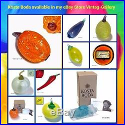 KOSTA BODA Frutteria Fruit ORANGE G SAHLIN #99026 / VINTAGE COLLECTABLE / NIB