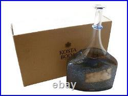 KOSTA BODA Glass BERTIL VALLIEN Sweden SATELLITE Bottle Vase 12 1/4 Tall 89253