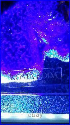 KOSTA BODA, Kjell Engman, Art Glass Sculpture. Signed, 80, s