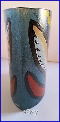 KOSTA BODA LARGE SCANDINAVIAN GLASS TULIP VASE Swedish Art ULRICA HYDMAN VALLIEN