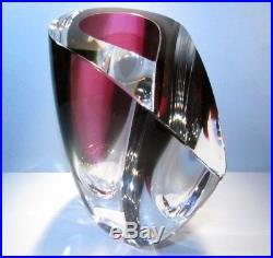 KOSTA BODA MIRAGE Large Vase Goran Warff Signed Scandanavian Art Glass