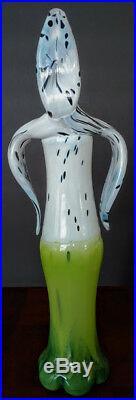 KOSTA BODA My Wide Life Anatomic Orchid Vase, Signd L. Lofgren #'d Artsy Glass