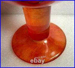 KOSTA BODA Open Minds Glass Vase 8 COMPOTE Ulrika Hydman Sweden signed #