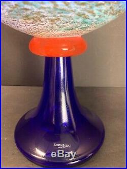 KOSTA BODA Signed Kjell Engman CANCAN #59723 11 Wide Large Pedestal Bowl