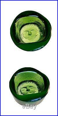 KOSTA BODA Sweden Art Glass PAPERWEIGHTS Erik Hoglund / 6 Piece COLLECTION