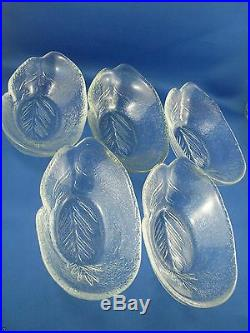 KOSTA BODA Sweden Art Glass SWEETS AVOCADO DISHES by Ann Warff