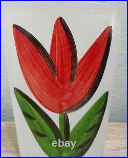 KOSTA BODA Sweden Large Heavy Tulip Vase Signed Ulrica Hydman Vallien RARE HTF