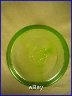 KOSTA BODA Ulrica Hydman-Vallien NIB Mine Lime Heavy Ice Bucket/Pot