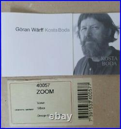 KOSTA BODA Zoom glass vase by Goran Warff