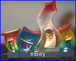 KOSTA BODA art glass KJELL ENGMAN sculpture INSIDE complete VILLAGE Rare