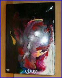 KOSTA BODA scandinavian abstract art glass vase designer Asa Jungnelius signed