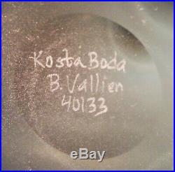 KOSTA KLUSTER vtg kosta boda glass vase Bertil Vallien sweden danish modern art