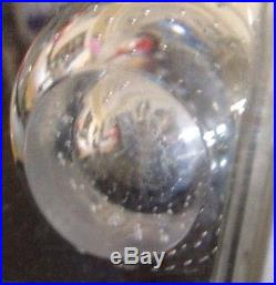 KOSTA SIGNED LH 1331 9 Art GLASS VASE WITH BUBBLES SWEDEN