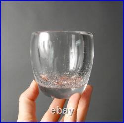 Kaj Franck glass vase Vessel Iittala Finland Small with bubbles handmade Home