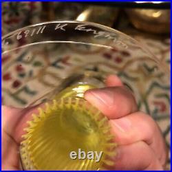 Kjell Engman Kosta Boda 3 Piece Art Glass Candle Holders Candlesticks