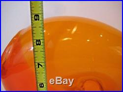 Kjell Engman Kosta Boda Bali Side Orange Glass Heart Vase In Orig Box Collecble