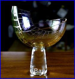 Kjell Engman Kosta Boda Studio Signed Limited Edition 23/175 Pedestal Bowl, VTG