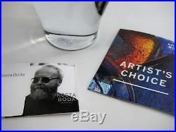 Kjell Engman Kosta Boda Sweden Bali Purple Heart Glass Vase 16 Artist's Choice