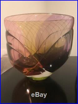 Kjell Engman Kosta Boda Sweden Signed Vase Large Midcentury Atelier
