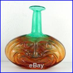 Kjell Engman Vase Rio für Kosta Boda, Face Vase, Scandinavian Art Glass