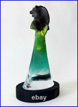 Kjell Engman'Well Bear' Glass Sculpture Kosta Boda Sweden
